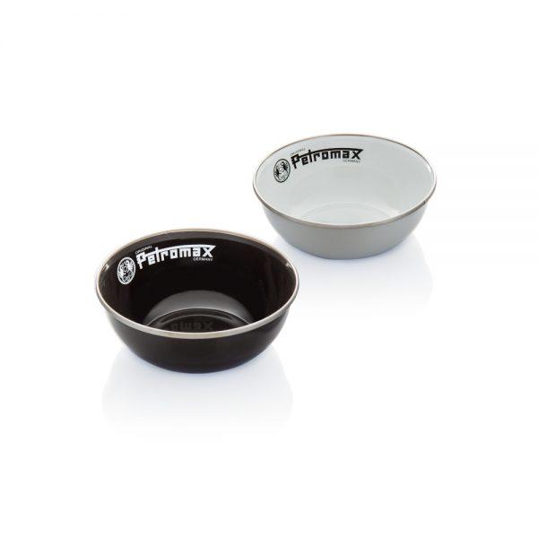 Petromax Emaille Schüssel schwarz und weiß