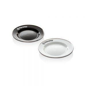 Petromax Emaille Teller schwarz und weiß